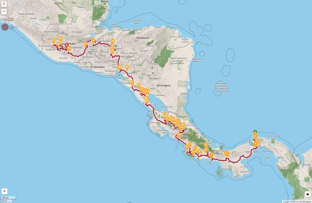 La Carrera Panamericana Rally del Sur Mapa