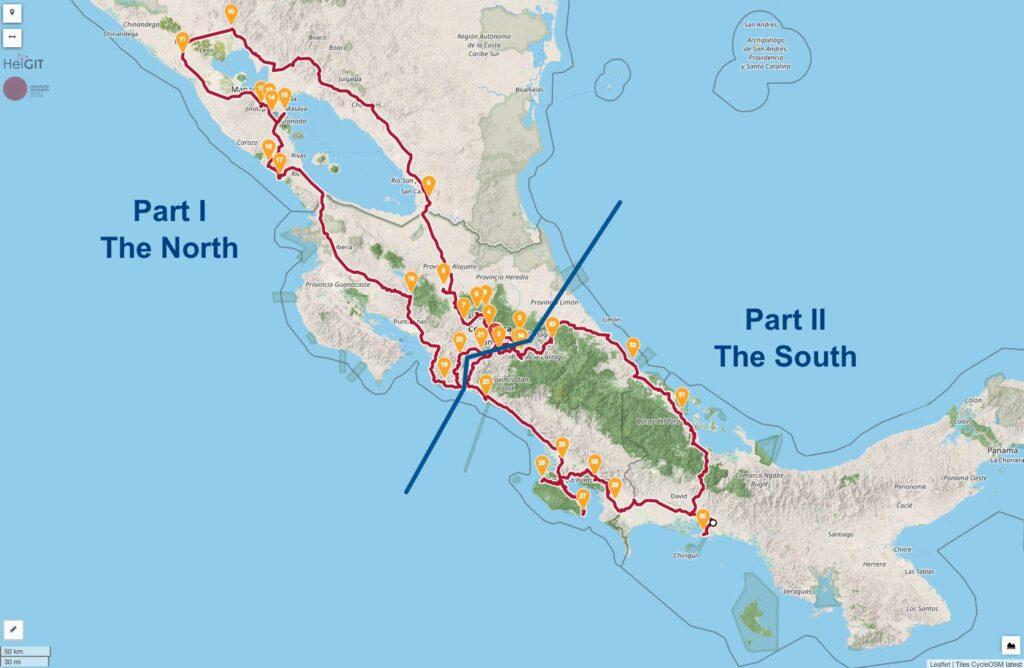 La Carrera Veragua Rally Mapa