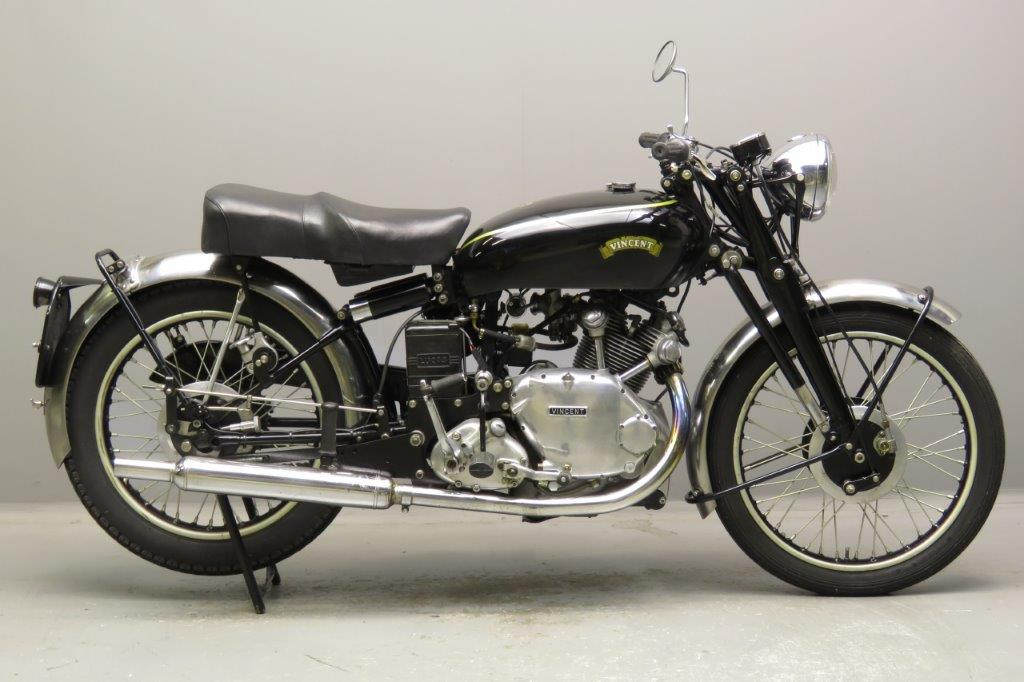 Vincent Comet Moto de Rally Vintage
